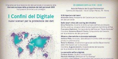 I Confini del Digitale – Roma, 29 Gennaio 2019