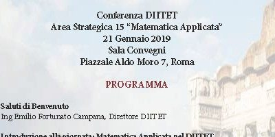 Department Conference: Strategic Area 'Applied Mathematic' – Rome, 21 January 2019