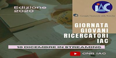 (Italiano) Giornata Giovani ricercatori IAC. Edizione 2020