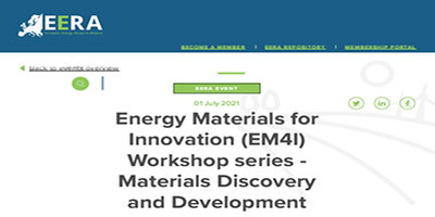 Energy Materials for Innovation (EM4I) Workshop series